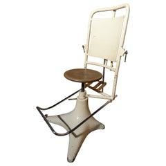 Antique Vintage 1850 French Adjustable Dentist Chair