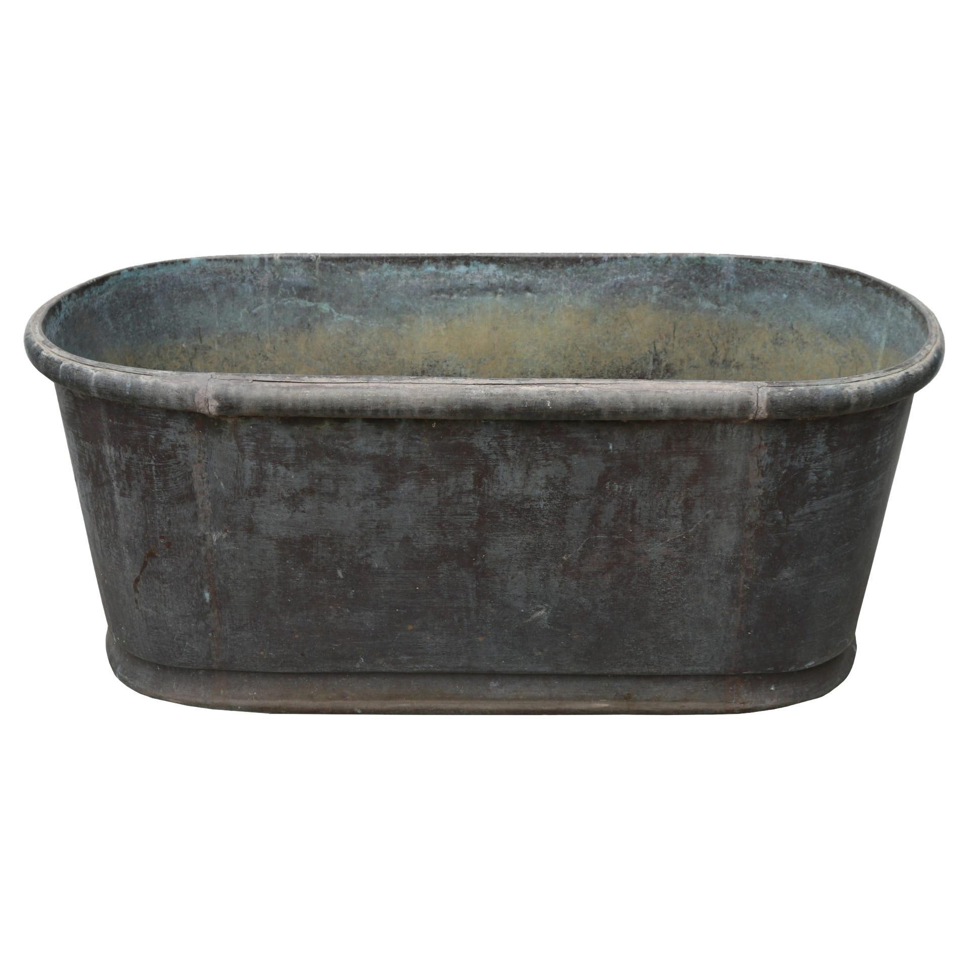 Antique Vintage Copper Bath Tub