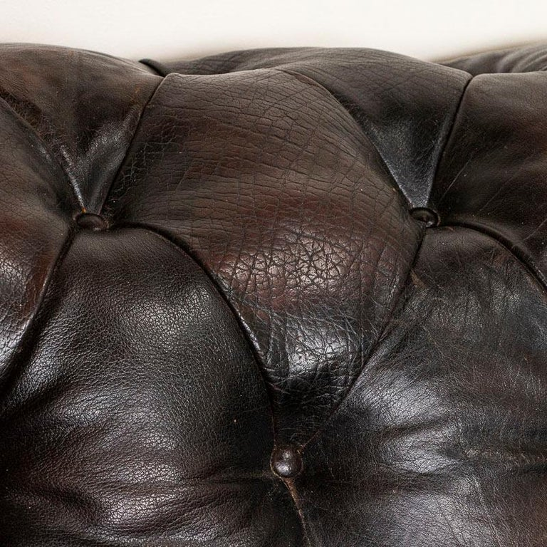 Vintage Leather Chesterfield Sofa from England For Sale 1