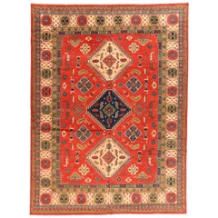 Antique Vintage Rug Kazak, Pakistani