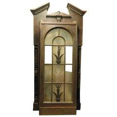 Antique Vintage Wood Glass Door, Large Frame, 1930s from Milan Original Cinema
