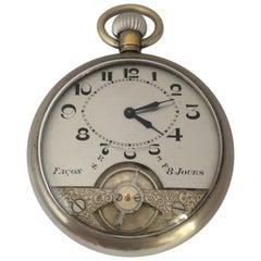 Antique Visible Escapement Hand Winding Pocket Watch
