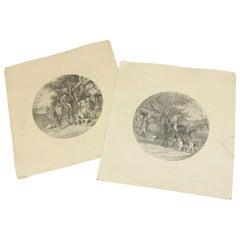 Antique W J Shayer Fox Hunting Prints, 20th Century