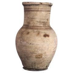 Antique Wabi Sabi Natural White Clay Pot