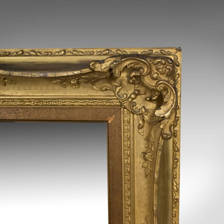 Antique Wall Mirror English Victorian Picture Frame