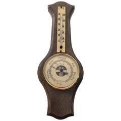Antique Wall Thermometer / Barometer