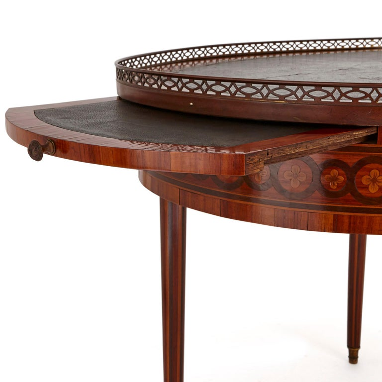 19th Century Antique Walnut and Marquetry Writing Desk For Sale