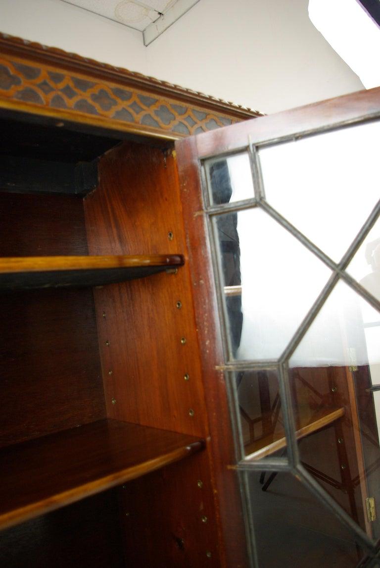 Antique Walnut Bookcase Three Door Bookcase Scotland 1920 Antiques At 1stdibs