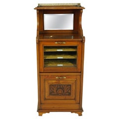 Antique Walnut Cabinet, Victorian Sheet Music Side Cabinet, Scotland 1890, B1877