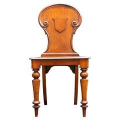 Antique Walnut Chair W/ Crest Detail