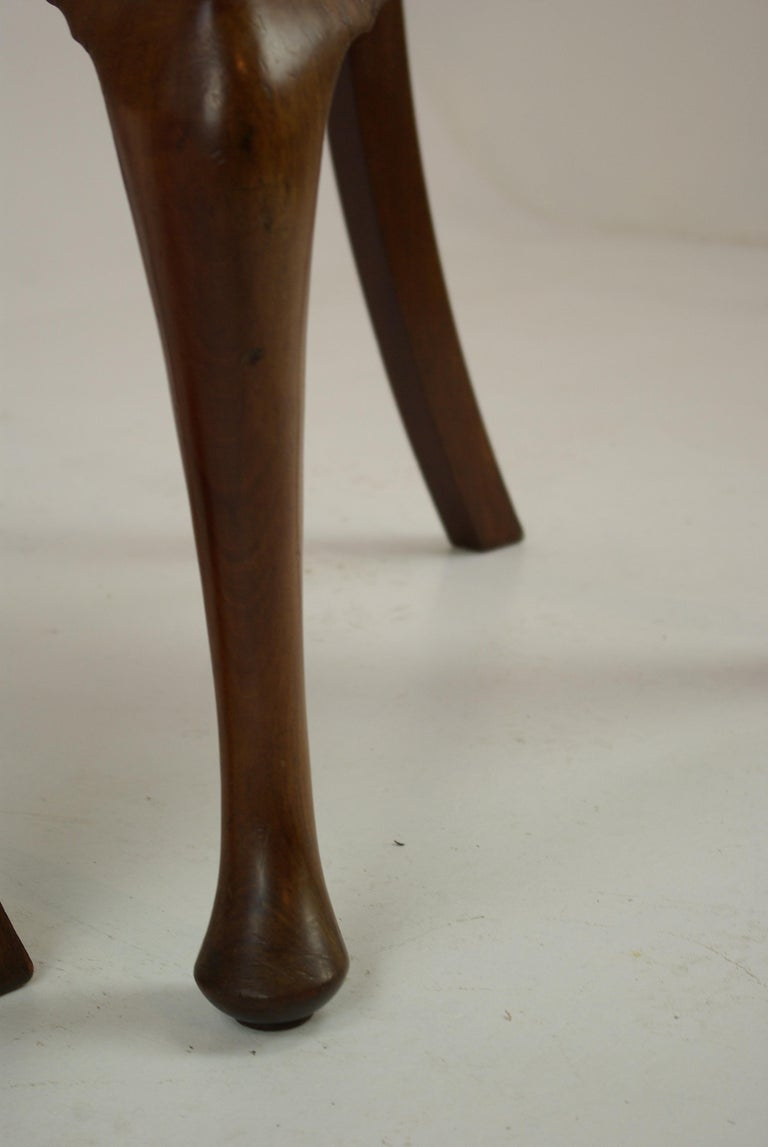 Antique Walnut Chairs, Queen Anne Chairs, 7 Dining Chairs, Scotland 1920, B1196 For Sale 5