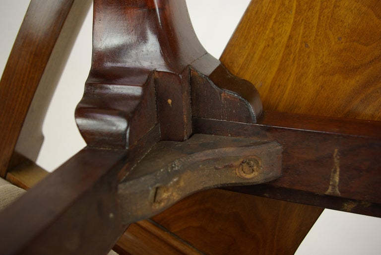 Antique Walnut Chairs, Queen Anne Chairs, 7 Dining Chairs, Scotland 1920, B1196 For Sale 9