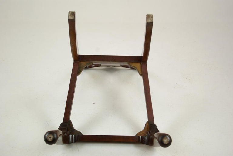 Antique Walnut Chairs, Queen Anne Chairs, 7 Dining Chairs, Scotland 1920, B1196 For Sale 10