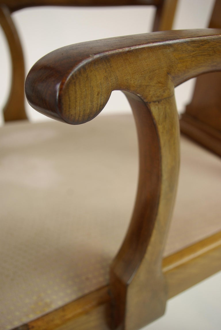 Antique Walnut Chairs, Queen Anne Chairs, 7 Dining Chairs, Scotland 1920, B1196 For Sale 3