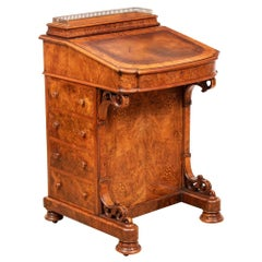 Antique Walnut Davenport, circa 1860s