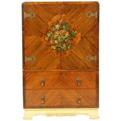 Antique Walnut Dresser, Art Deco Burr Walnut Dresser, Scotland 1930, B1771B