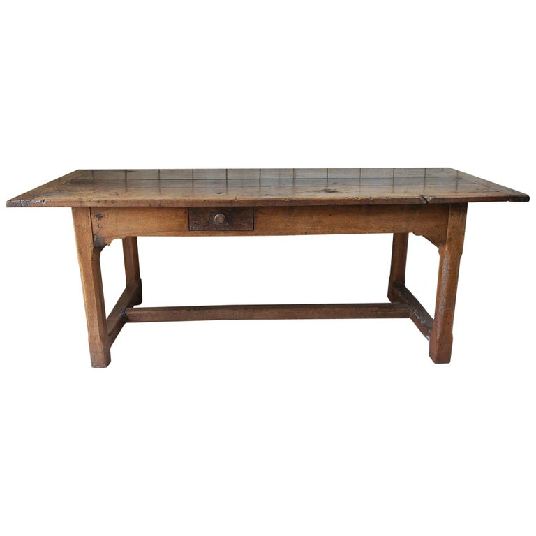 Walnut Kitchen Table: Antique Walnut Farmhouse Kitchen Table For Sale At 1stdibs