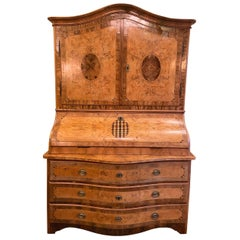 Antique Walnut Marquetry Large Buffet, circa 1800