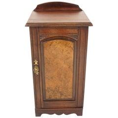 Antique Walnut Nightstand, Bedside, Lamp Table, Scotland 1890, B2251