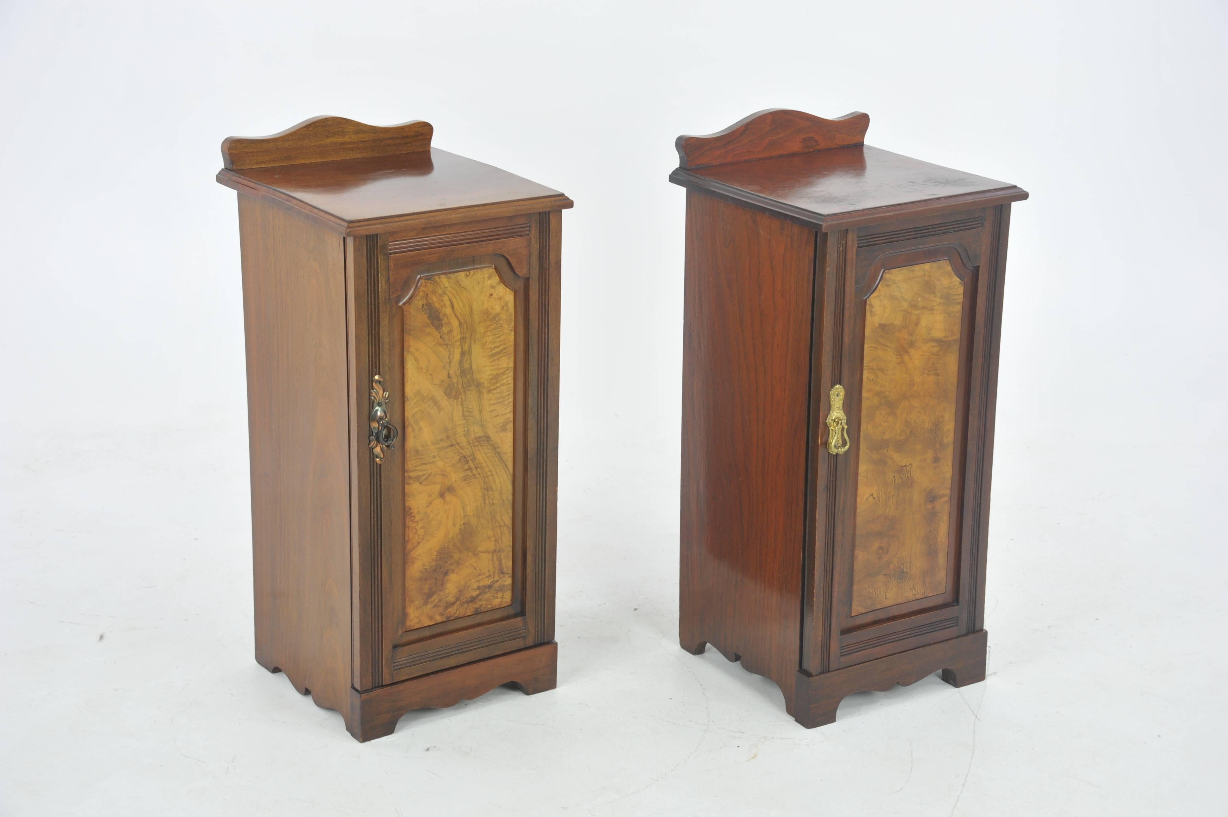 Antique Walnut Nightstands Or Lamp Tables Scotland At 1stdibs