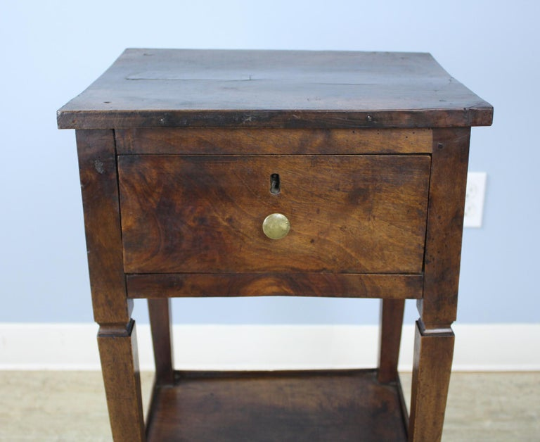 French Antique Walnut Side Table For Sale