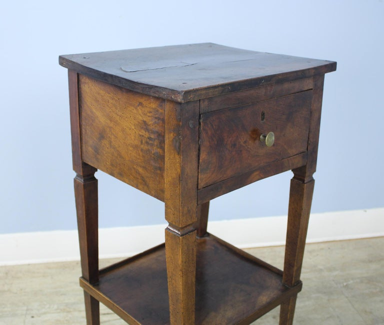19th Century Antique Walnut Side Table For Sale