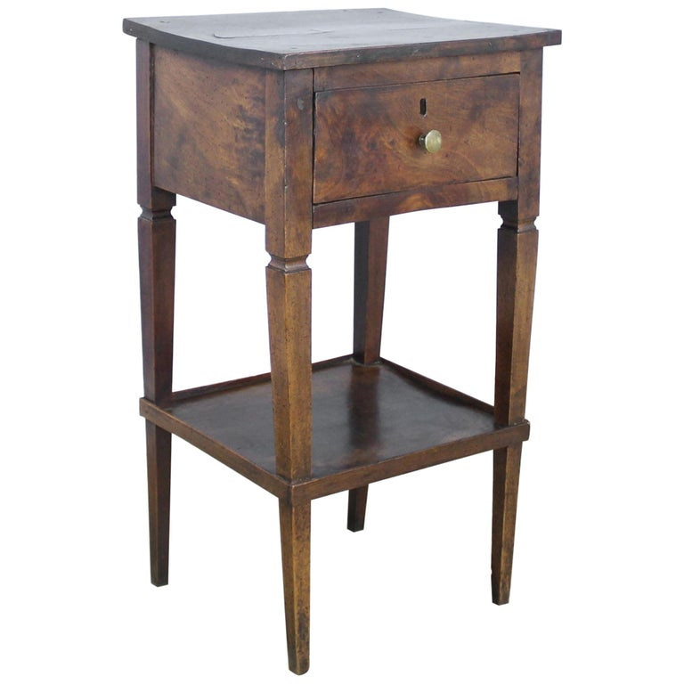 Antique Walnut Side Table For Sale