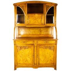 Antique Walnut Sideboard, French Art Nouveau Cabinet, France 1900, B1511