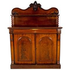 Antique Walnut Sideboard, Victorian Barley Twist Buffet, Scotland 1870, B1337