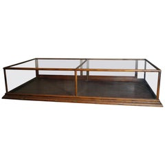 Antique Walnut Store Glass Mercantile Display Case, Nashville History