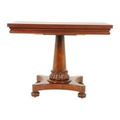 Antique Walnut Table, Fold Over Swivel Top Tea Table, Scotland 1840, B1765