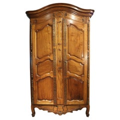 Antique Walnut Wood Armoire from Fourques, France, Circa 1820
