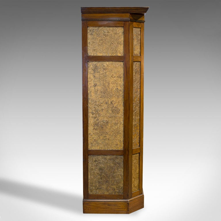 Antique Wardrobe English Walnut, Art Deco, Vanity, Liberty of London, circa 1920 For Sale 1