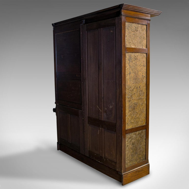 Antique Wardrobe English Walnut, Art Deco, Vanity, Liberty of London, circa 1920 For Sale 2