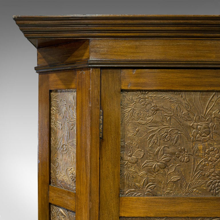 Antique Wardrobe English Walnut, Art Deco, Vanity, Liberty of London, circa 1920 For Sale 4