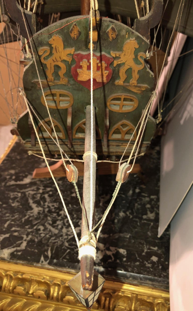Antique Warship of Spanish Armada Vessel from Antiquités Delalande For Sale 8