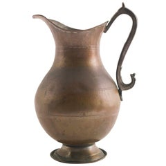 Antique Water Jug or Pitcher, from the Ottoman Empire, Handmade in Heavy Copper