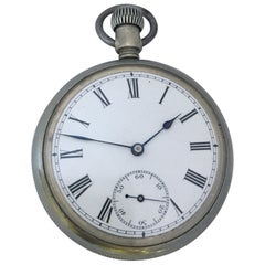Antique Waterbury & Watch Co. Hand-Winding Pocket Watch