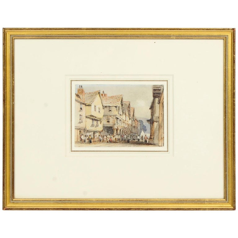 Antique Watercolor by George Pyne 19th Century For Sale