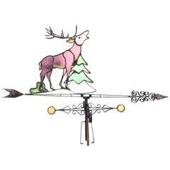 Antique Weather Vane of a Red Deer