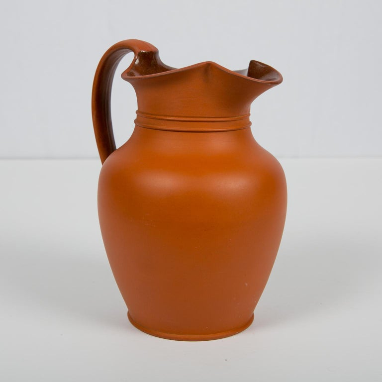 Antique Wedgwood Pitcher Rosso Antico For Sale 3