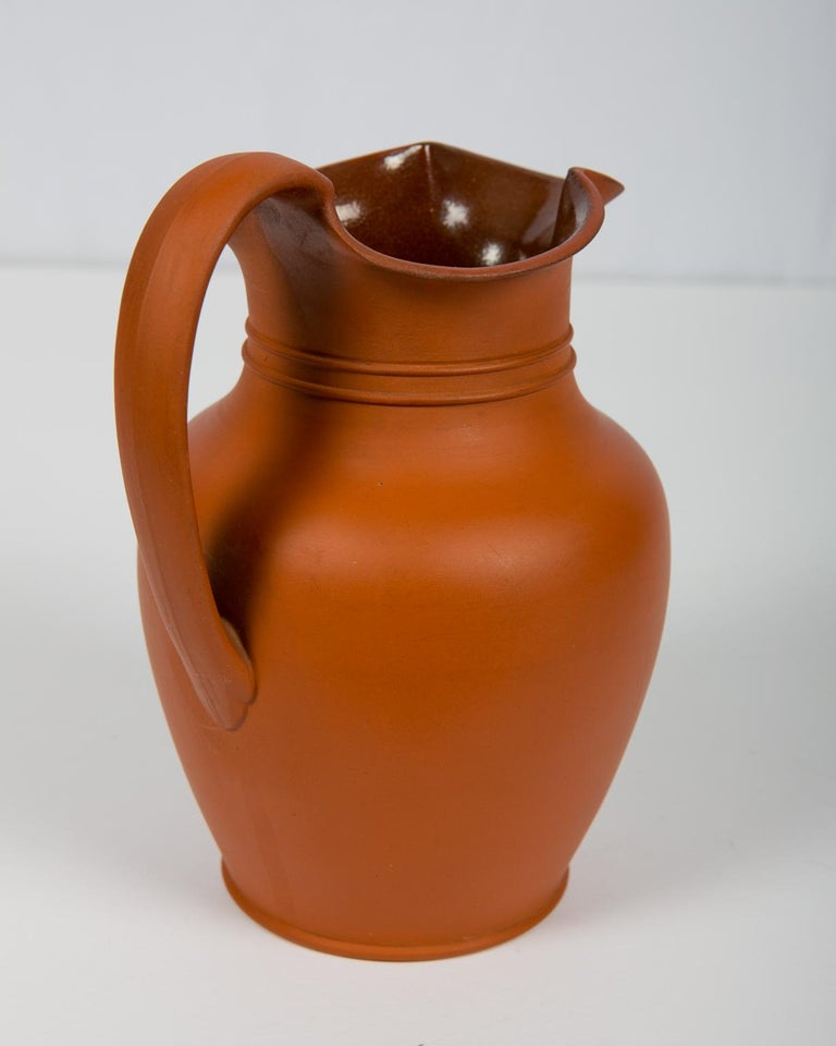 English Antique Wedgwood Pitcher Rosso Antico For Sale
