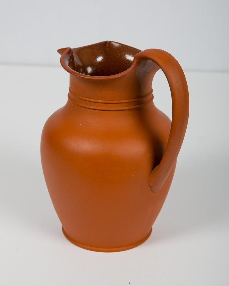 19th Century Antique Wedgwood Pitcher Rosso Antico For Sale