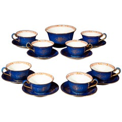 Antique Wedgwood Porcelain Chinoiserie Tea Set for 8 Persons