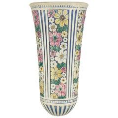 Antique Weller Floral Art Pottery Floral Wall Pocket, circa 1930