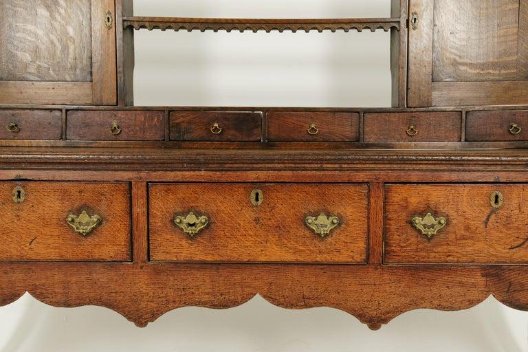 English Antique Welsh Dresser, Antique Sideboard, Farmhouse Chic, England 1790, B1578