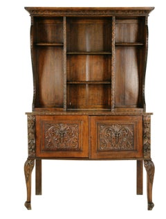 Antique Oak Dresser, Carved Oak Welsh Sideboard or Buffet, Scotland 1880, B1482A