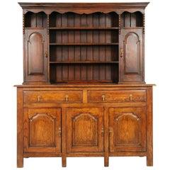 Antique Welsh Dresser, Plate Rack Oak, Scotland 1920, 1643