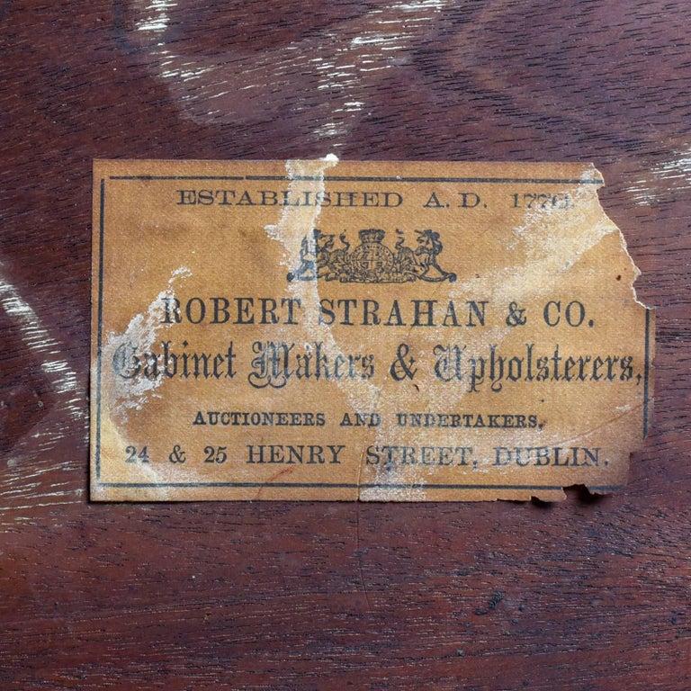 Antique Whatnot Irish, Burr Walnut, Mirror Stand Robert Strahan & Co, circa 1840 For Sale 6