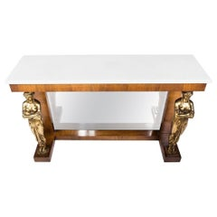 Antique White Marble Top Console from S. Julian Antiques